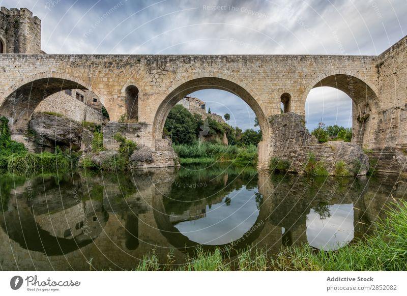 Medieval bridge of Besalu medieval Village Historic Bridge Old Vacation & Travel Landscape Architecture Ancient Building Stone Landmark besalu girona Spain
