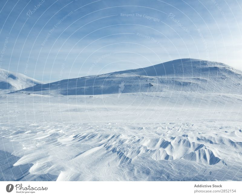 Snowy mountain in daylight Hill Nature Landscape Winter Cold Ice Blue Frost White Beautiful Fresh Weather Mountain Calm Day Seasons Beauty Photography tranquil