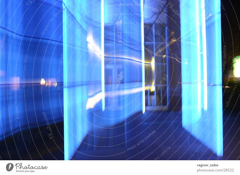 out of blue Long exposure Wall (building) Emsland district Laser Blue lingen schaper