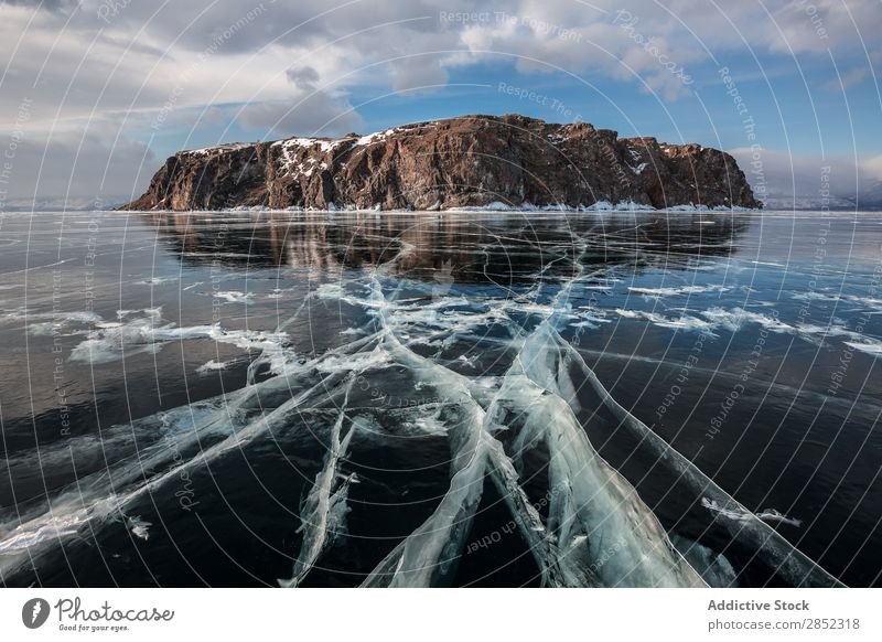 Baikal Lake, Siberia baikal Ice Winter Frozen Landscape Russia The Arctic Blue Cold Sky Nature Snow icy Deserted Frost Vacation & Travel Seasons Exterior shot