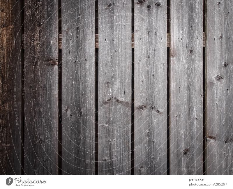 happy who forgets Wall (barrier) Wall (building) Wood Gloomy Forget Happy Luckily Gray Wooden wall Empty Old Derelict Wooden hut Subdued colour Exterior shot