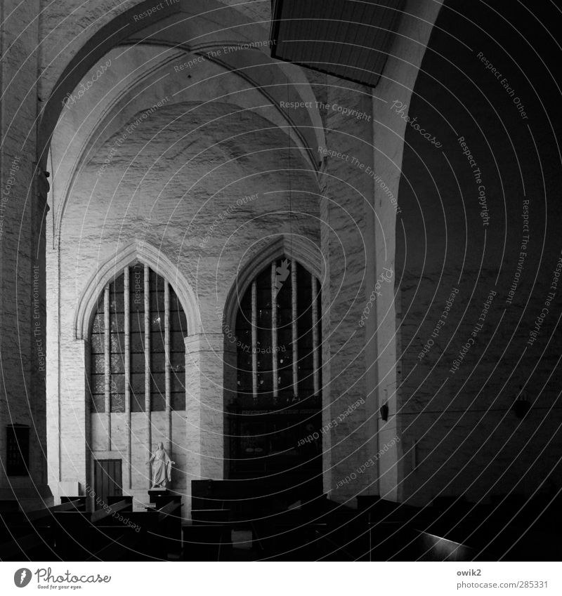 Old Dark Wall (building) Architecture Wall (barrier) Religion and faith Building Art Large Arrangement Tall Empty Church Esthetic Hope Culture