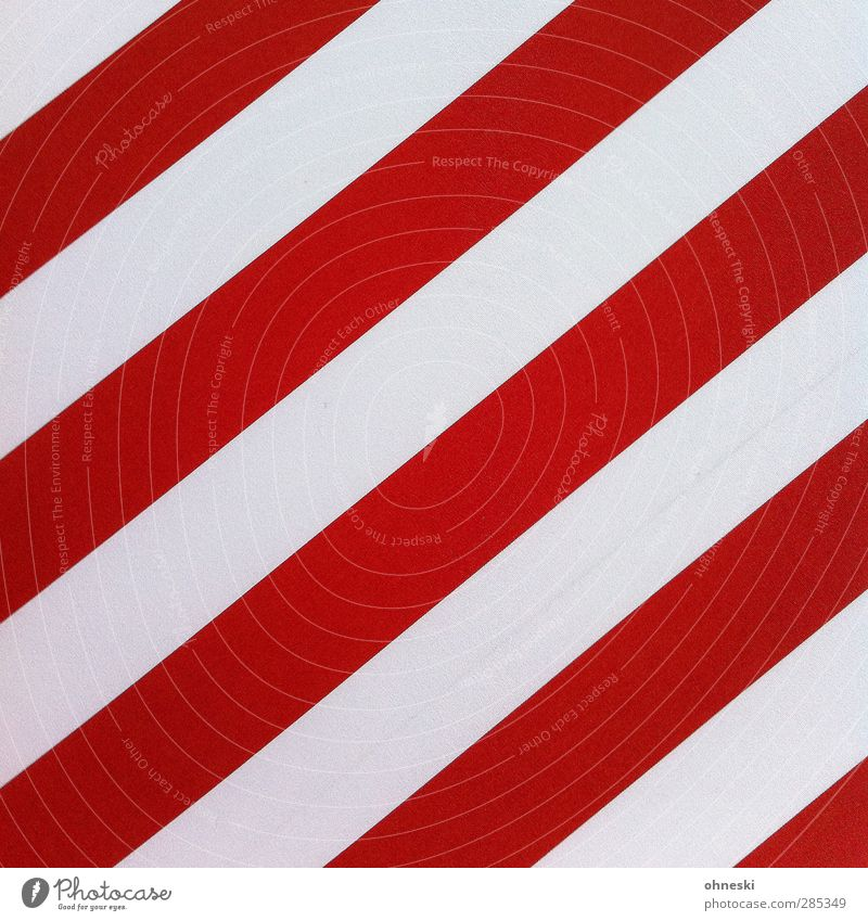 streaked Style Design Wall (barrier) Wall (building) Facade Ornament Line Stripe Red White Arrangement Colour photo Exterior shot Abstract Pattern