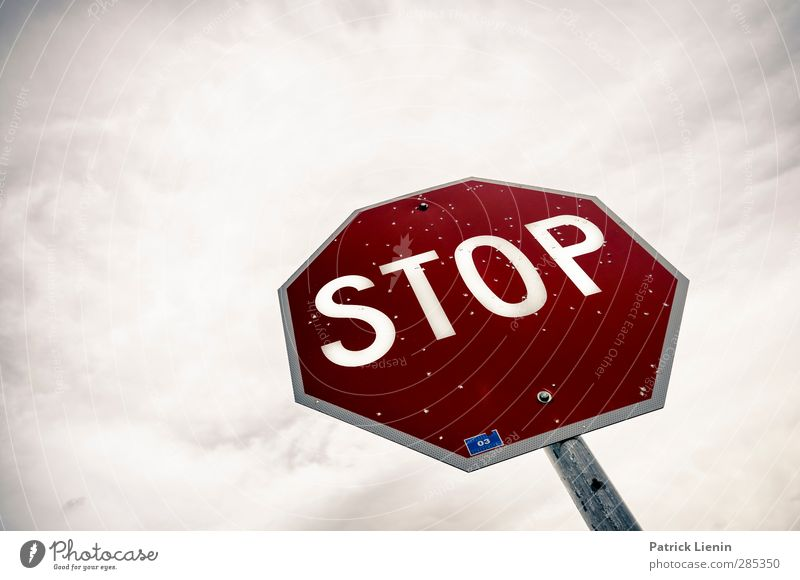 STOP Transport Street Sign Signs and labeling Signage Warning sign Road sign Aggression Fear Loneliness Apocalyptic sentiment Freedom Society Healthy