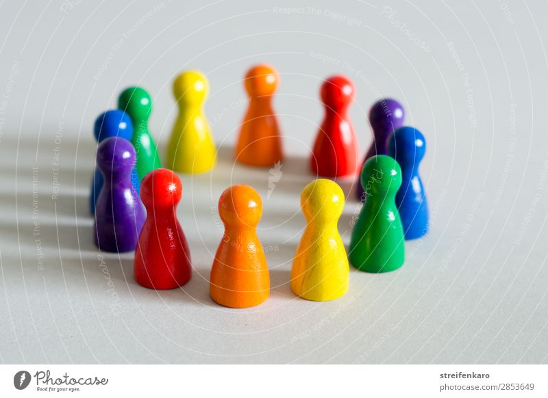 Blue Green Red Wood Yellow Natural Emotions Happy Group Orange Together Free Communicate Esthetic Stand Happiness