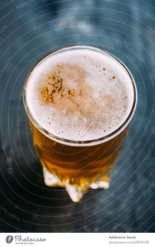 Glass of beer on dark background Alcoholic drinks ale Bar Beer Beverage Bottle Brewery Cool (slang) Craft (trade) Drinking Foam Food Gold Grunge Pub Table