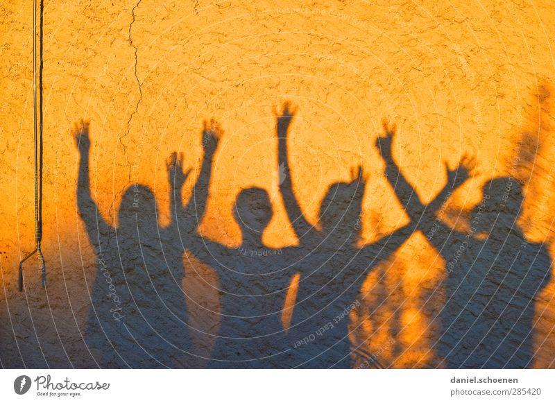 Human being Joy Yellow Emotions Happy Group Orange Gold Happiness Joie de vivre (Vitality) Wave