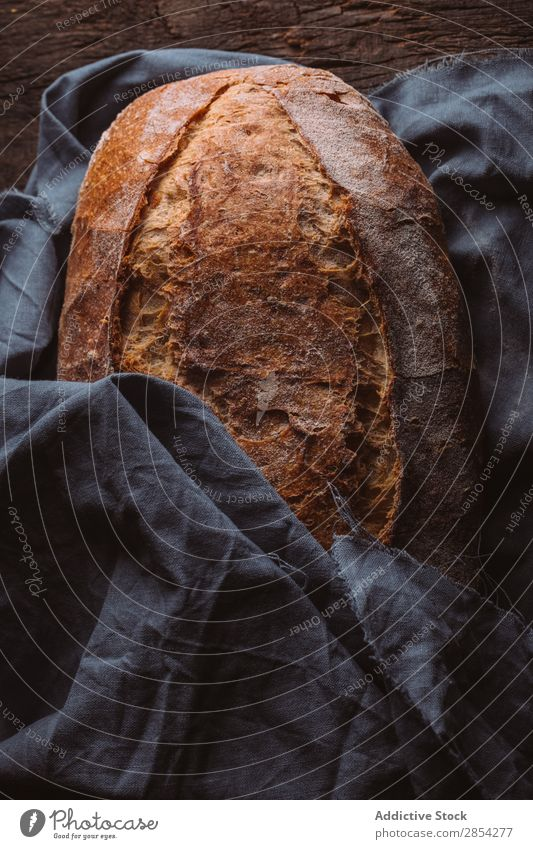 Rustic loaf of artisan bread Baking Bakery Bread carbohydrate Dark Flour Food Fresh home-baked Moody Wheat