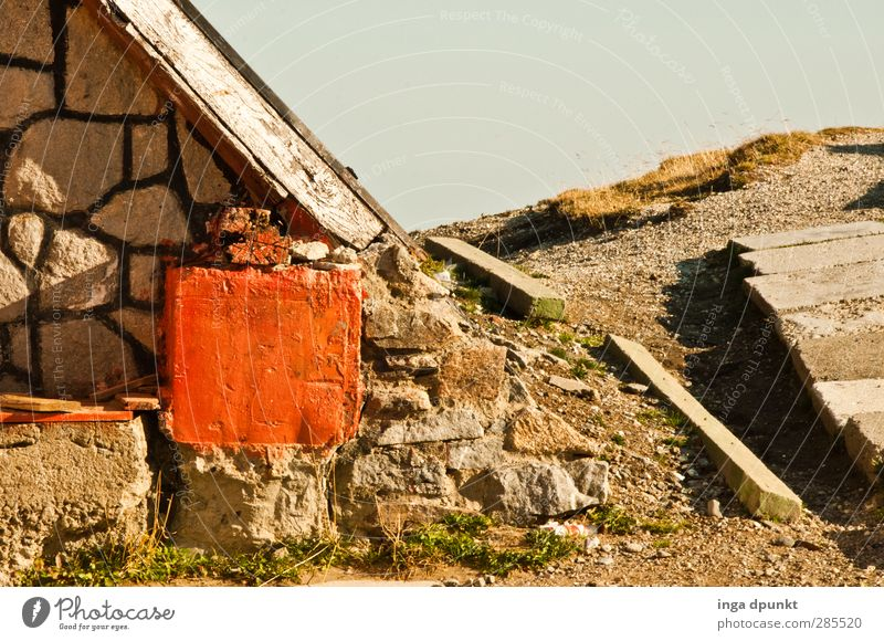 A way into the unknown Environment Nature Landscape Rock Mountain Romania Siebenbürgen Carpathians House (Residential Structure) Hut Wall (barrier)