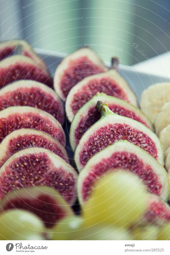 fruity Fruit Nutrition Breakfast Organic produce Vegetarian diet Diet Healthy Delicious Fig Colour photo Interior shot Close-up Detail Macro (Extreme close-up)