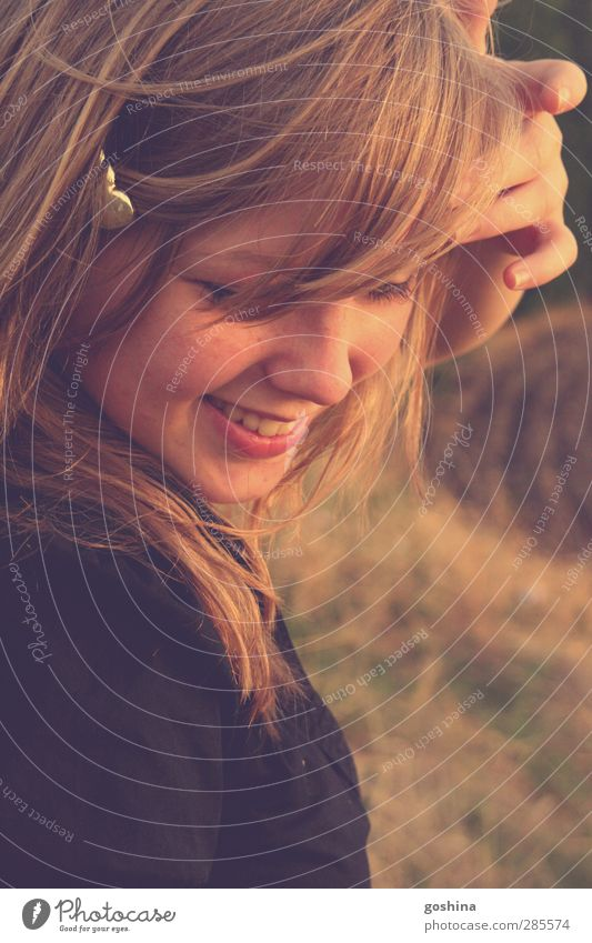 Beautiful Summer Sun Joy Autumn Life Feminine Laughter Happy Natural Field Blonde Contentment Fresh Happiness Illuminate