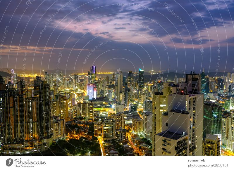 Panama City! Capital city Skyline Architecture Virtuous Fear of heights Money High-rise High-rise building Central America Latin American Twilight Impressive
