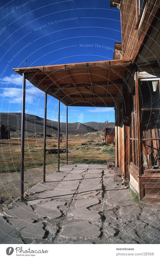Sky House (Residential Structure) Historic San Francisco California Wooden house Ghost town Bodie