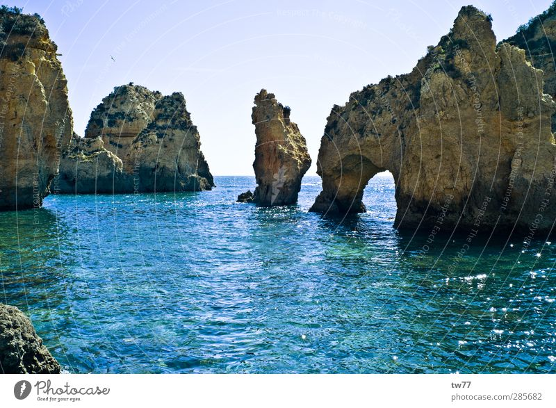 Algarve Coast, Portugal Relaxation Calm Fishing (Angle) Vacation & Travel Tourism Adventure Far-off places Cruise Summer vacation Beach Ocean Island Sports