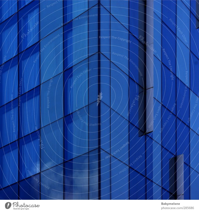 Blue House (Residential Structure) Window Cold Building Style Flat (apartment) Glittering Modern Design High-rise Living or residing Lifestyle Esthetic