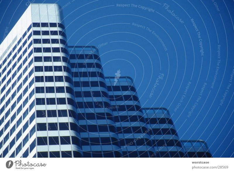 high-rise facade Facade High-rise Diagonal San Francisco Architecture Sky Structures and shapes Blue
