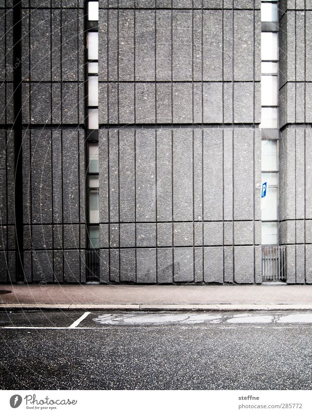 Around the World Oslo Norway Town Wall (barrier) Wall (building) Facade Modern Gloomy Concrete Black & white photo Exterior shot