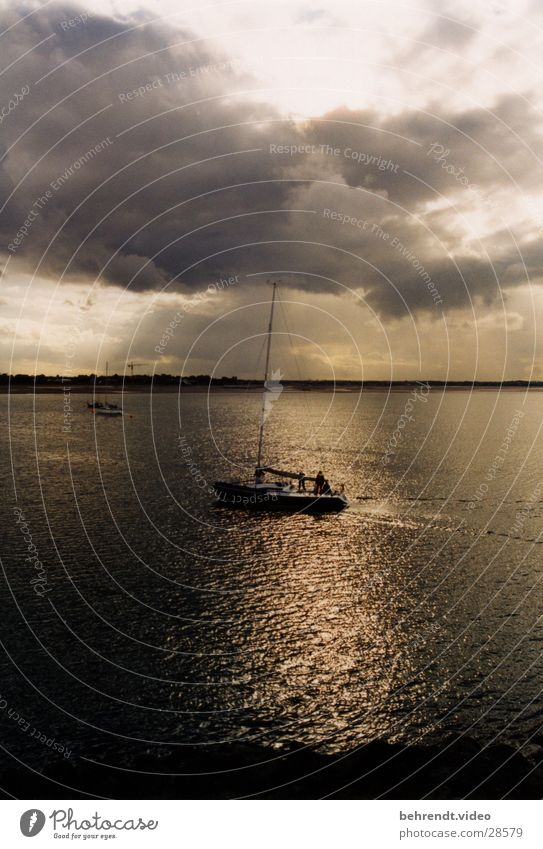 Water Sun Ocean Clouds Watercraft Moody Sailing Sailboat Yacht Sailing ship Sport boats