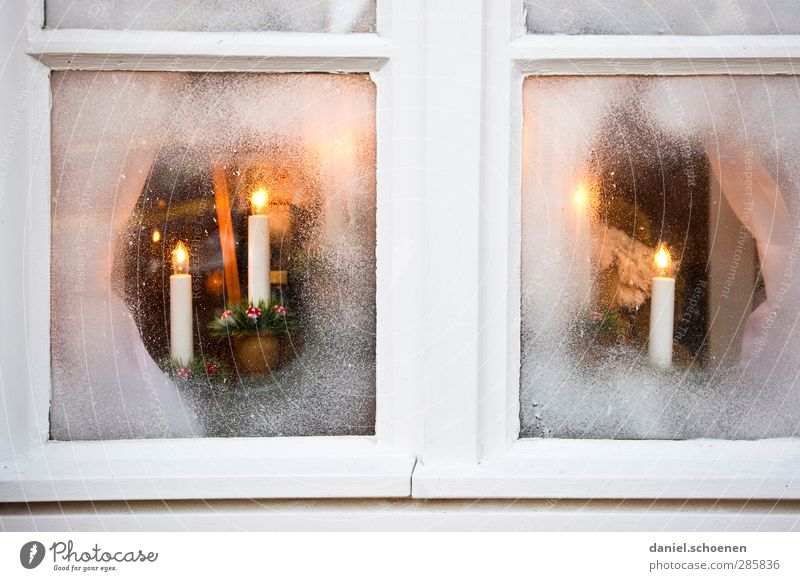 Christmas & Advent Window Warmth Bright Room Decoration Candle Kitsch Anticipation Odds and ends