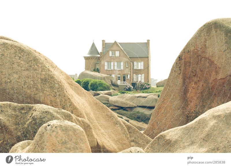 view with apartment Nature Summer Beautiful weather Rock Brittany Cote de Granit Rose House (Residential Structure) Dream house Tower Architecture Country house