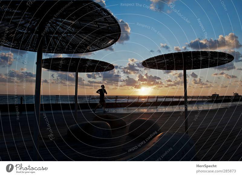 Human being Sky Vacation & Travel Man Summer Sun Ocean Clouds Beach Adults Sports Coast Masculine Idyll Walking Beautiful weather