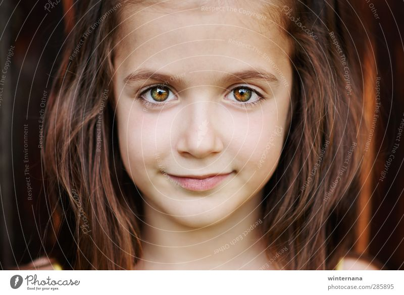 Preslava Girl Face Eyes 3 - 8 years Child Infancy Happiness Beautiful Colour photo Portrait photograph Front view Looking Looking into the camera