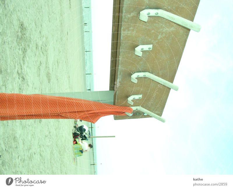 outdoor wardrobe Beach Checkmark Wood Norderney T-shirt Undershirt Human being Europe Sand Island