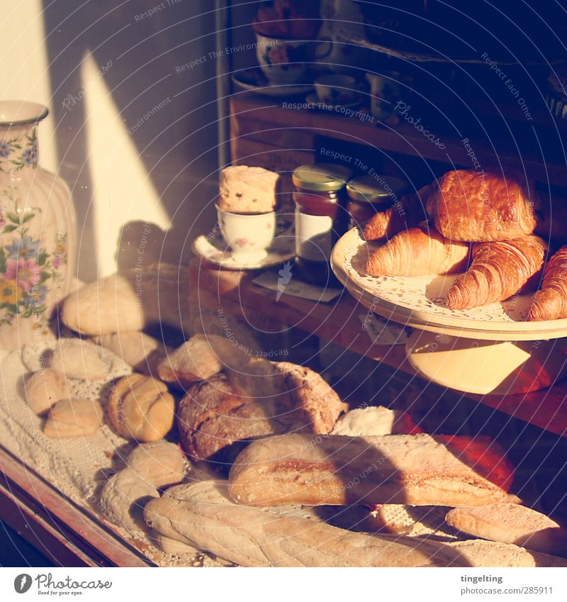 Yellow Window Eating Brown Gold Food Authentic Candy Delicious Store premises Breakfast Bread Fragrance Baked goods Dough Shop window