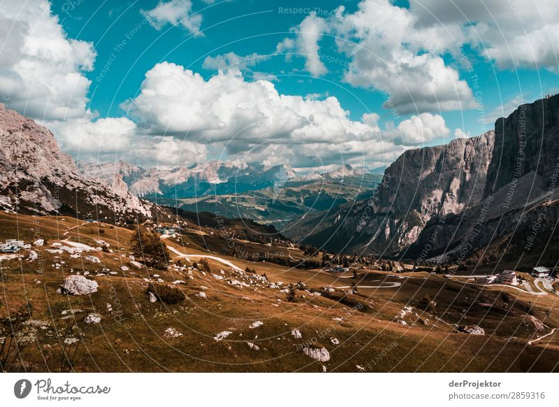 Clouds and shadows in the Dolomites with path II Central perspective Deep depth of field Sunbeam Sunlight Light (Natural Phenomenon) Silhouette Contrast Shadow
