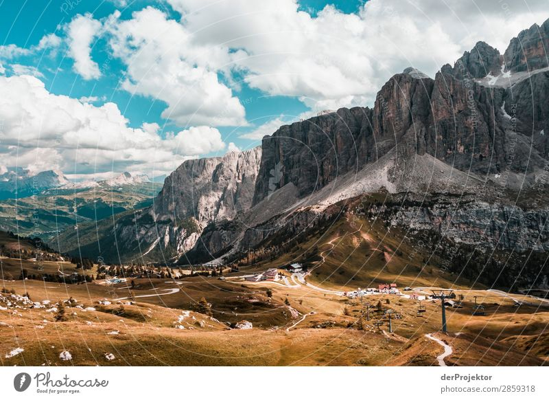 Clouds and shadows in the Dolomites with path III Central perspective Deep depth of field Sunbeam Sunlight Light (Natural Phenomenon) Silhouette Contrast Shadow