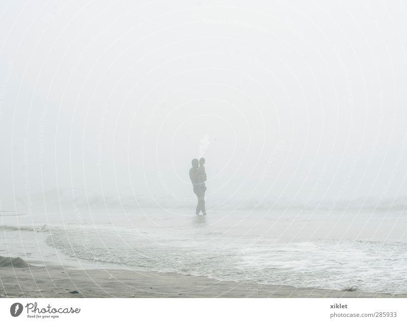 fog Human being Child Man Ocean Joy Beach Clouds Adults Coast Funny Dream Swimming & Bathing Natural Body Rain Waves
