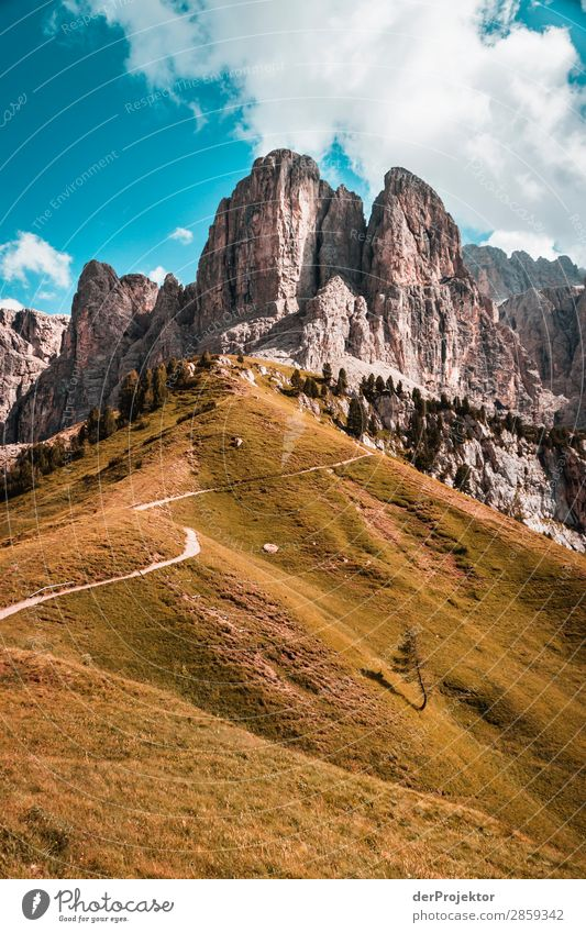 Clouds and shadows in the Dolomites VII Central perspective Deep depth of field Sunbeam Sunlight Light (Natural Phenomenon) Silhouette Contrast Shadow Day