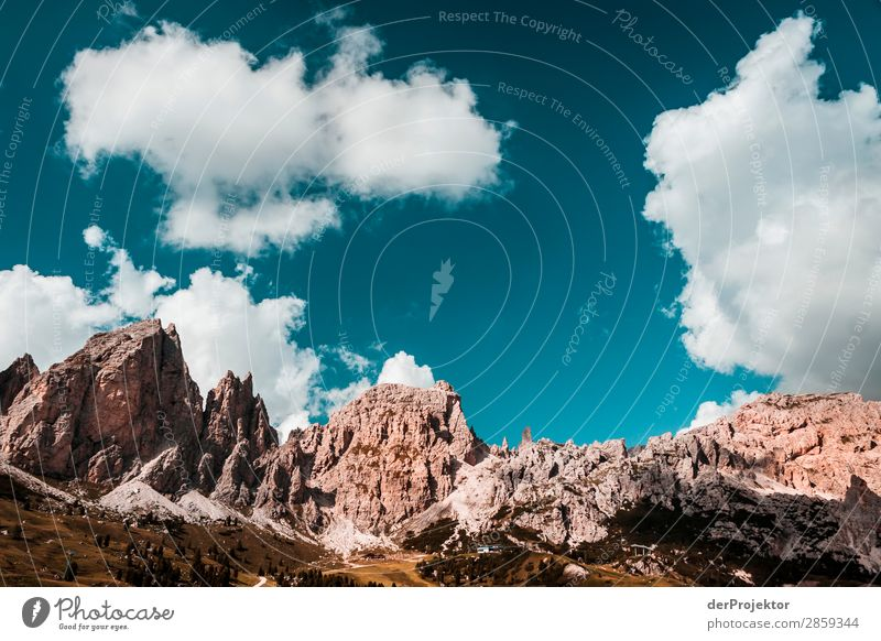 Clouds and shadows in the Dolomites V Central perspective Deep depth of field Sunbeam Sunlight Light (Natural Phenomenon) Silhouette Contrast Shadow Day