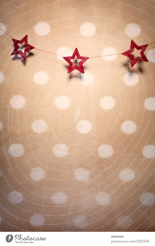stars and dots Flat (apartment) Interior design Decoration Wallpaper Feasts & Celebrations Christmas & Advent Christmas decoration Christmas star Kitsch