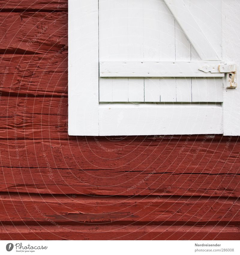 RED - WHITE Freedom Retirement House (Residential Structure) Hut Manmade structures Building Architecture Facade Window Wood Friendliness Happiness Fresh Cuddly
