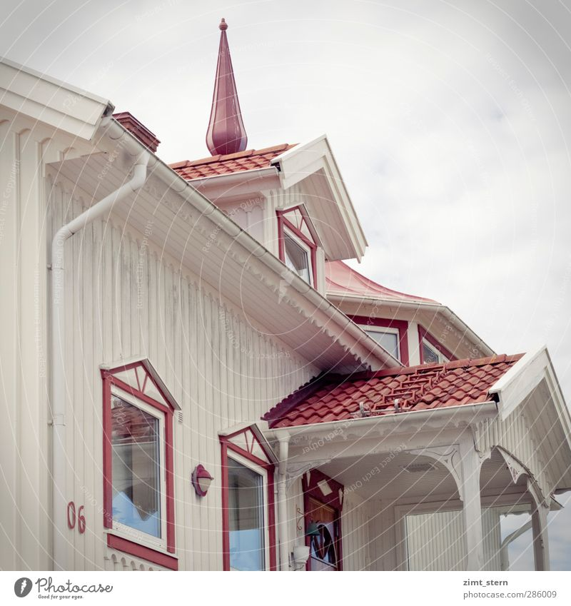 Dream house in red and white Style Vacation & Travel Living or residing Flat (apartment) House (Residential Structure) Architecture Clouds Göteborg Sweden