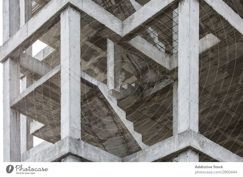 Unfinished building Abstract Architecture Building Built City Concrete Construction Contrast Crisis Facade Frame Framework Gray House (Residential Structure)