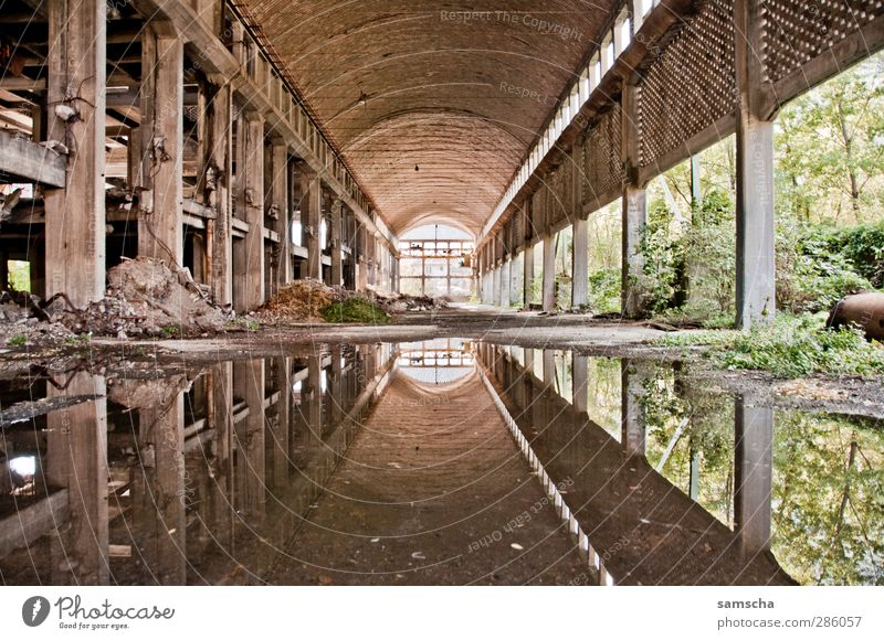 Mirror Mirror... Factory Industry Industrial plant Ruin Manmade structures Building Wall (barrier) Wall (building) Old Broken Factory hall Industrial site