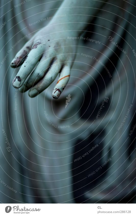 Woman Blue Old Hand Dark Death Senior citizen Sadness Religion and faith Stone Arm Dirty Fingers Transience Grief Belief