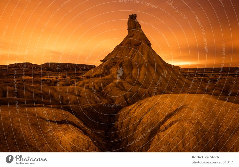 Top of stone desert hill and wonderful sky Hill Sky Stars Stone Night Bardenas Reales Spain Navarra Mountain Desert Heaven Peak Canyon Amazing Picturesque