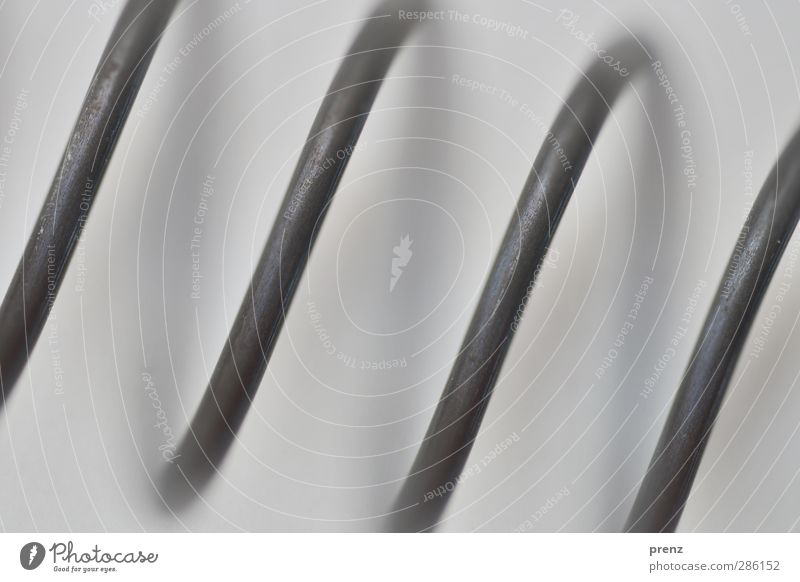 macro Technology Metal Steel Line Stripe Gray Black Tilt Metal coil Colour photo Exterior shot Close-up Detail Macro (Extreme close-up) Deserted