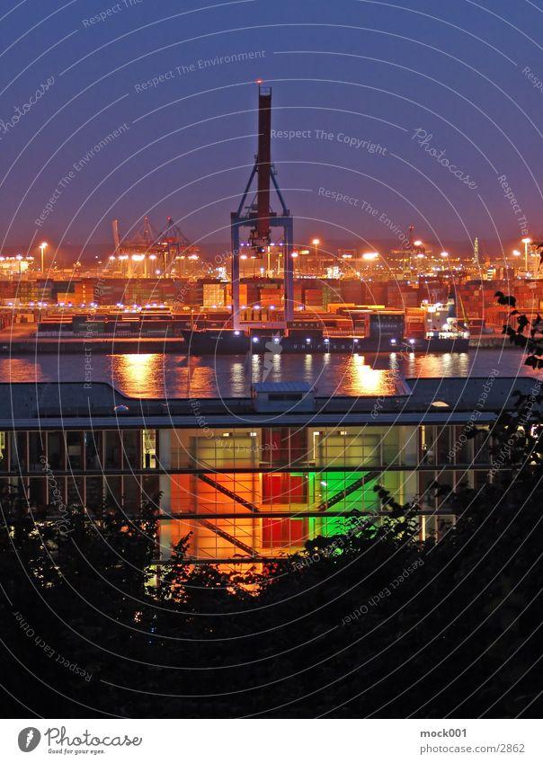 Sky Europe Harbour Crane Dusk Container Elbe