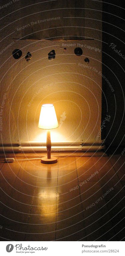 Dark Warmth Lamp Room Flat (apartment) Living or residing Decoration Kitsch Physics Living room Curtain Parquet floor Odds and ends Reflection