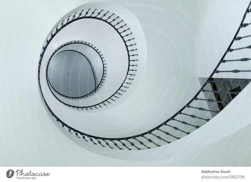 Modern spiral stairs indoors Stairs Spiral Architecture Design Interior design Structures and shapes Curve Building Abstract step Round Construction Metal