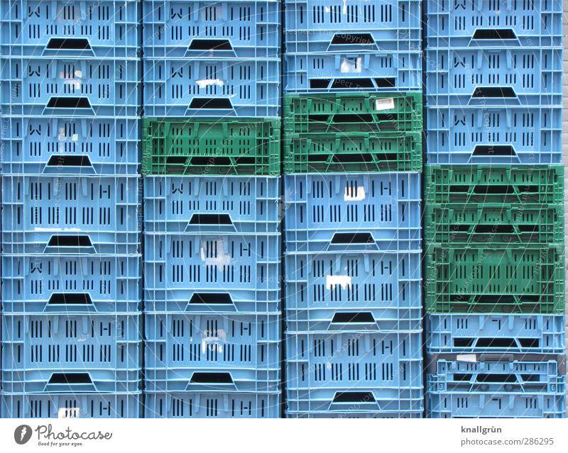 Blue Green City Emotions Arrangement Tall Stand Logistics Plastic Box Crate Sharp-edged Symmetry Stack Orderliness Plastic basket