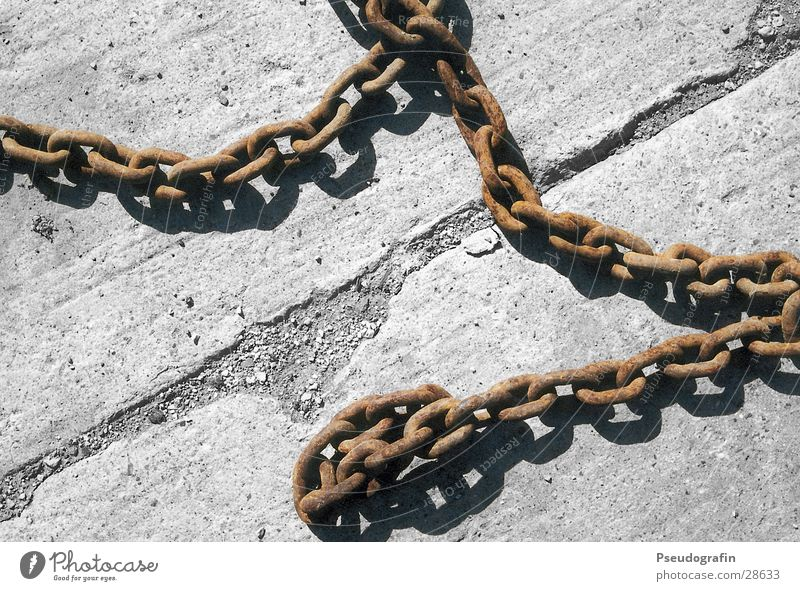 Brown Concrete Industry Rust Diagonal Chain