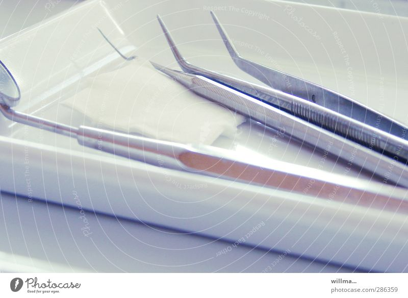 Visit to the dentist Dentist Medical instrument Medical treatment Health care dental lab dental practice Fear Medical technology Mirror Tweezers swabs Metal