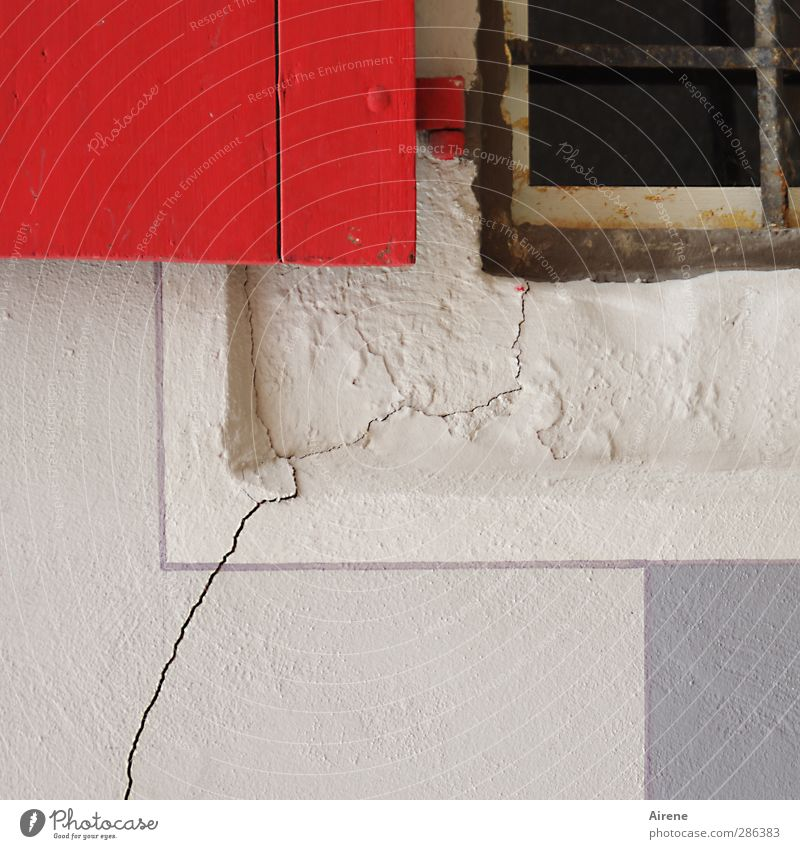 White Red House (Residential Structure) Window Wall (building) Wood Wall (barrier) Stone Line Facade Energy industry Broken Threat Crack & Rip & Tear Downtown Destruction