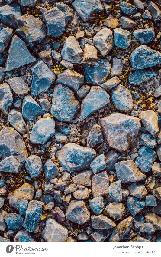Stones on the floor Texture Garden Spring Esthetic Background picture Ground Structures and shapes Morning Bird's-eye view Direct Stony Pebble beach Stone floor