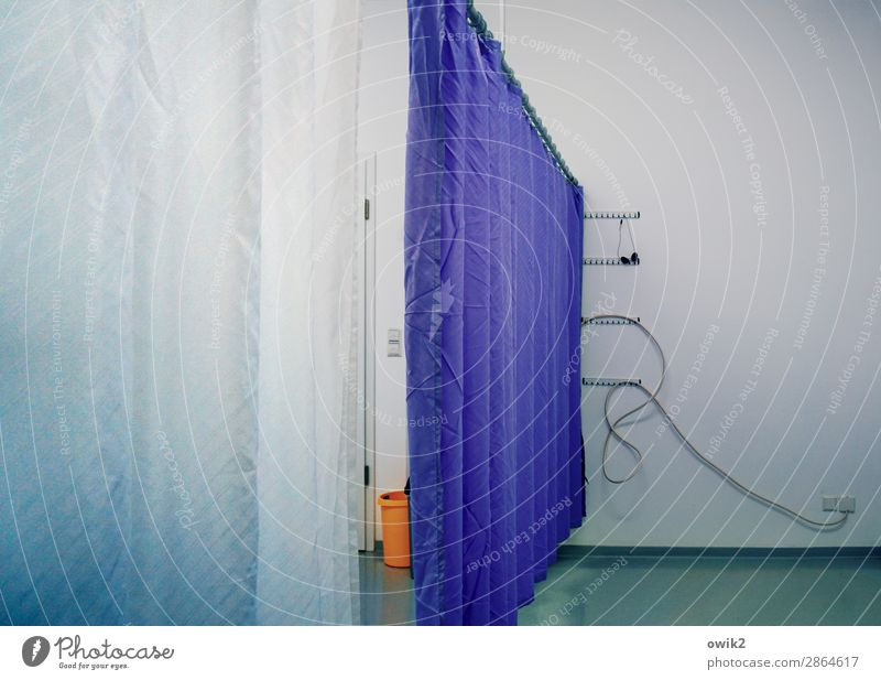 Blue Calm Wall (building) Wall (barrier) Orange Gloomy Empty Floor covering Cable Concentrate Wallpaper Boredom Drape Patient Gap Patch of colour